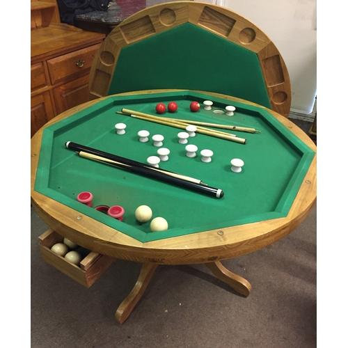17 - Very Interesting Games Table, Billiards , Cards Etc 120 cms Diameter 78 High...