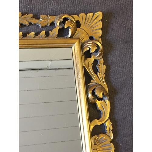 37 - Roccoco Style Wood Mirror 90 x 69 cms...