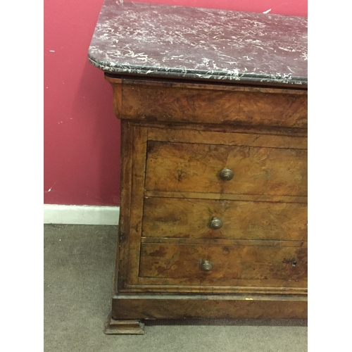 10 - Marble Top French Empire Commode   130 x 100 x 59 cms...