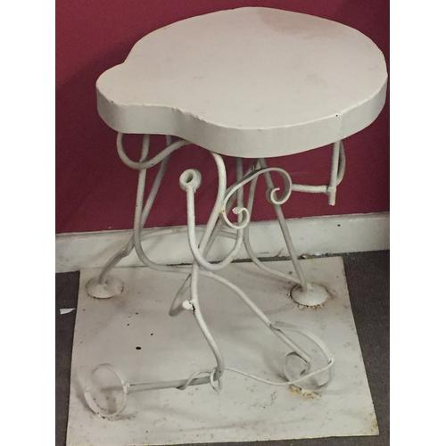 20 - Bespoke Made Ironwork Table 59 x 58 x 84 cms...