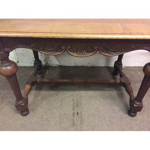3 - French Oak Carved Wood Table 110 x 73 x 77 cms...