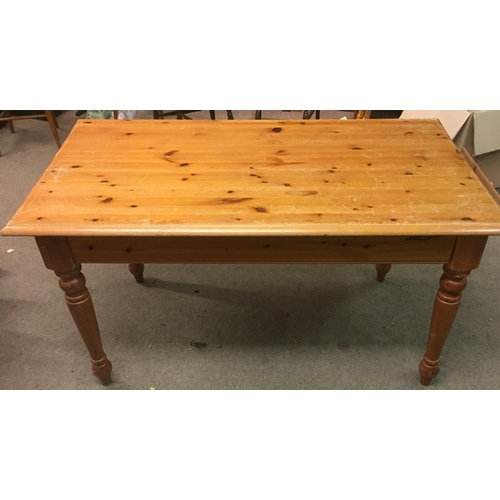 19 - Pine Table With End Drawer....