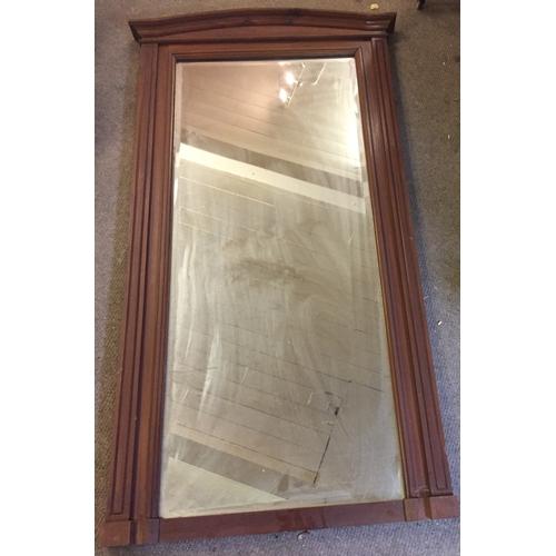 33 - Bevelled Edge Hall Mirror 148 x 80 cms...