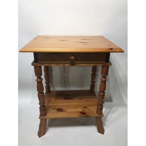 35 - Pine Slide Drawer Table 83 x 50 x 39 cms...