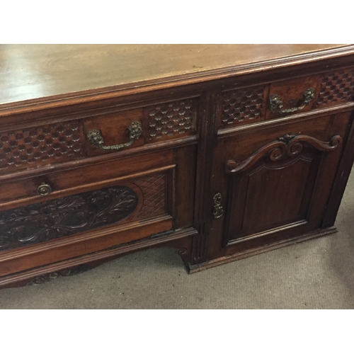 55 - Carved Wood Sideboard 183 x 51 x 72 cms...