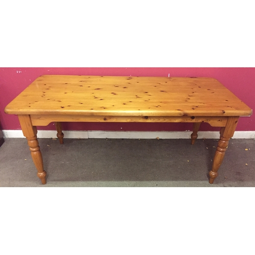 5 - Pine Farmhouse Table 184 x 92 x 77 cms...