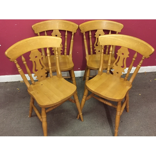 6 - 4 Kitchen Farmhouse Fiddle-back Back Chairs...