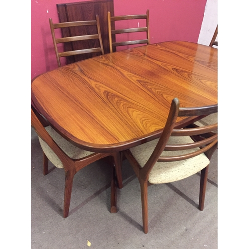 7 - Skovby Mid Century Danish  Rosewood Dining Table And 6 Chairs...