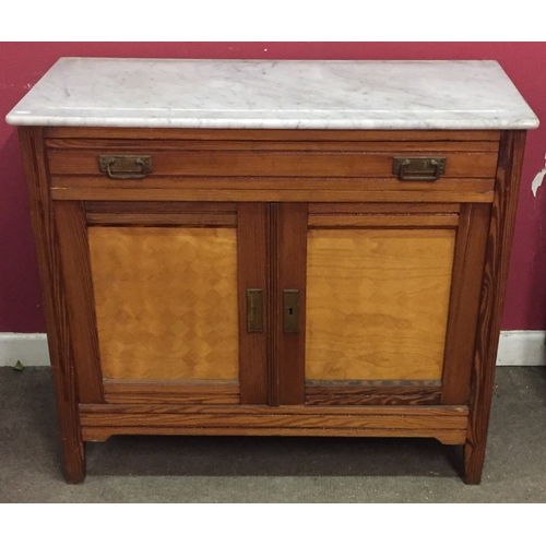 16 - Marble Top Drawer Over Cupboard...
