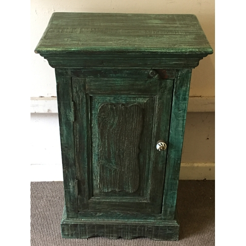 29 - Hard Wood Painted Cupboard Unit 84 x 53 x 36 cms...