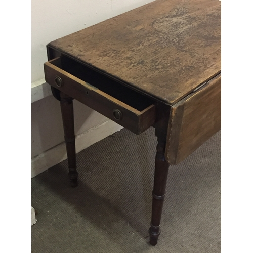 36 - Drop Leaf Table With End Drawer...