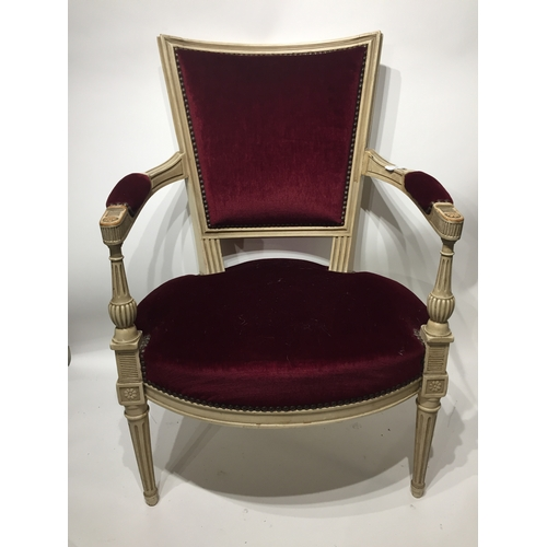 38 - French Painted Arm Chair...