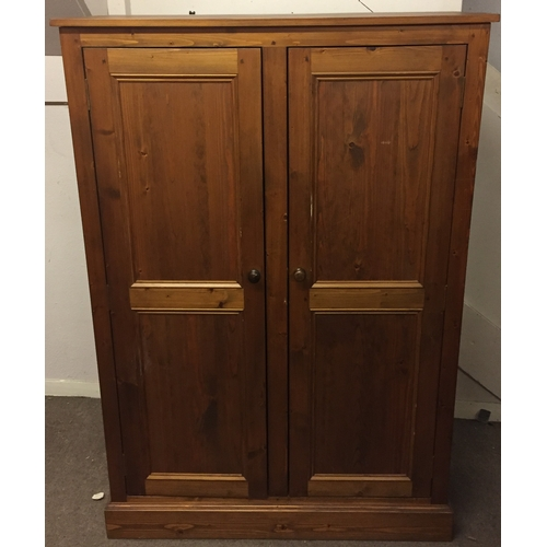50 - Small Solid Pine Wardrobe 160 x 110 x 60 cms...