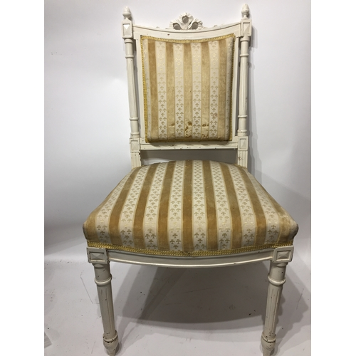 18a - Painted French Hall Chair...