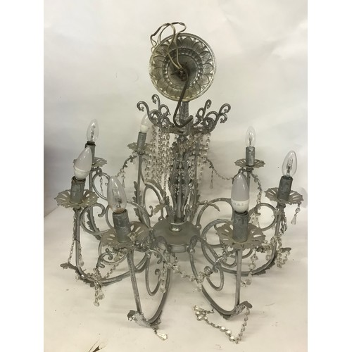52 - Silver Coloured Chandelier...