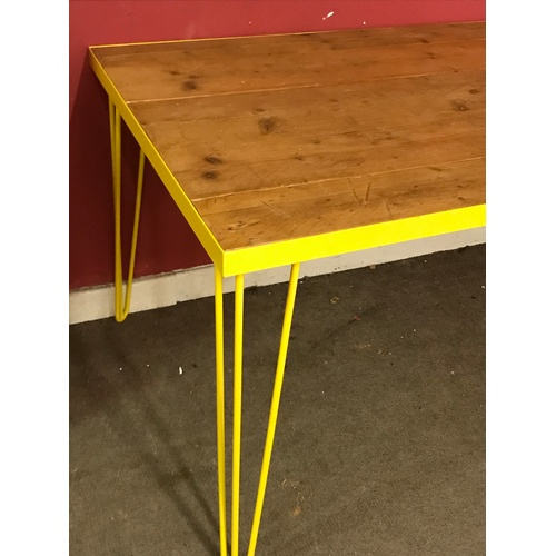 1 - Industrial Plank Top Table 150 x 90 x 76 cms...