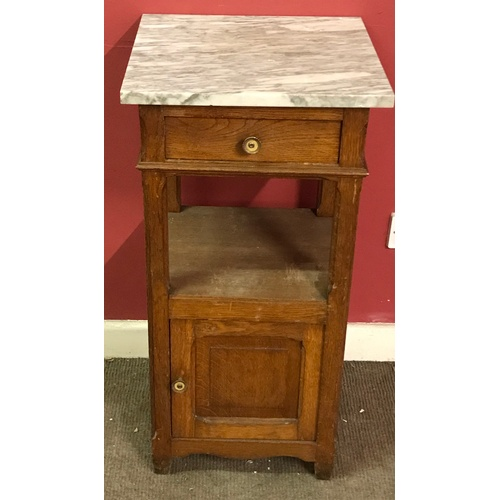 4 - Marble Top Night Stand / Pot Cupboard...