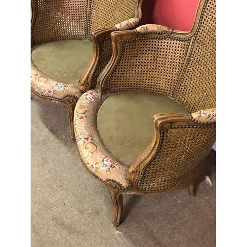 5 - Pair Of Antique French Berjere Chairs...
