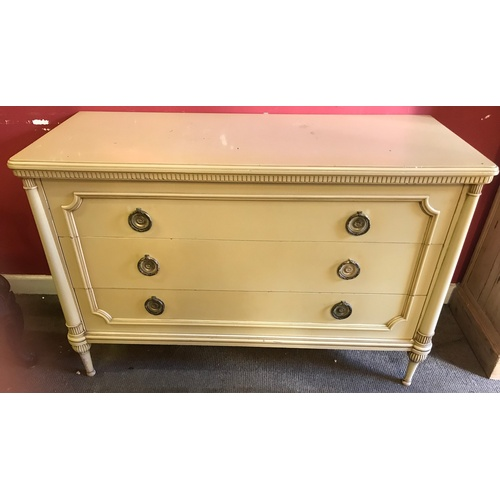 6 - European Chest Of 3 Drawers 123 x 52 x 80 cms...