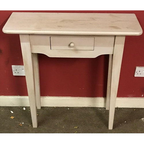 11 - Pine Hall Table With Central Drawer 80 x 30 x 80 cms...