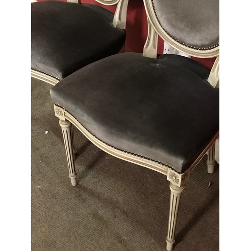 18 - 4 x Painted French Chairs...
