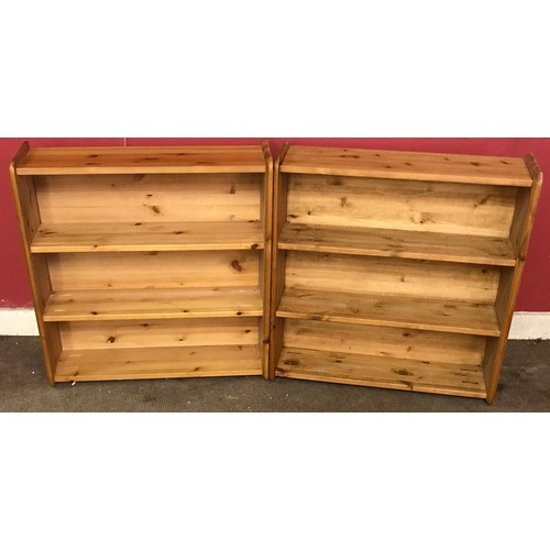 27 - 2 x Solid Pine Shelf Units 68 x 20 x 71 cms...