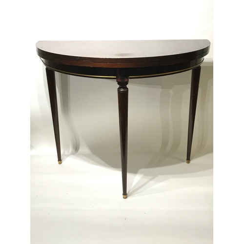 22 - Folding Demilune Table...