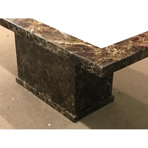 30 - Harveys Naples Marble Style Table . Very Heavy Marble Look . 180 x 100 x 77 cms...