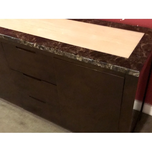 32 - Harveys Naples Range Marble Style Top Unit. 140 x 45 x 80 cms...