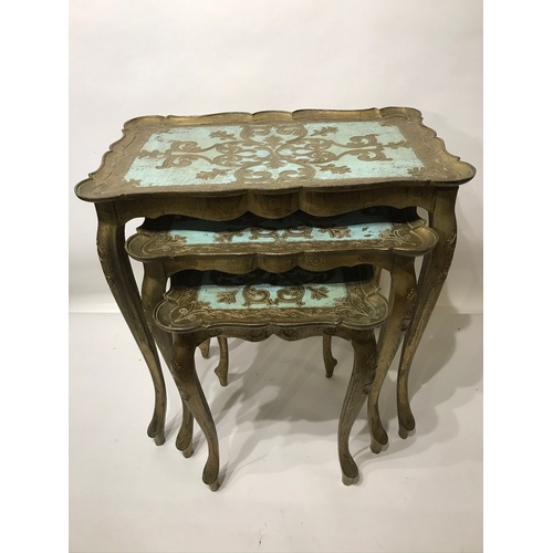 33 - Nest Of 3 Antique Style Tables...