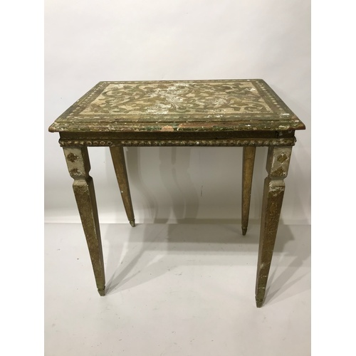40 - Small Painted Wood Continental Side  Table. 45 x 32 x 52 cms...