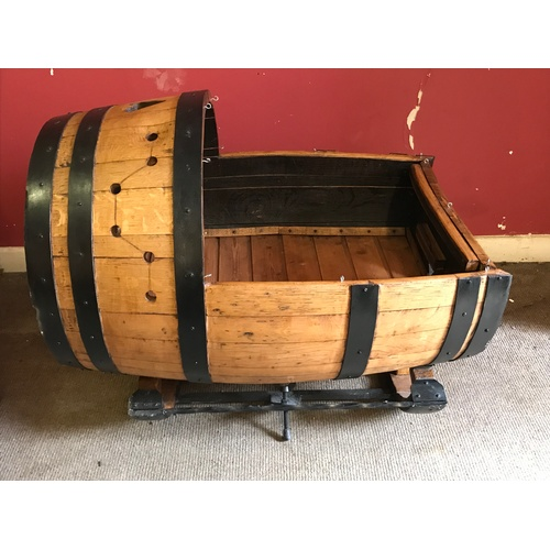 49 - Good Example Of A Bespoke Made Crib From A Barrel...