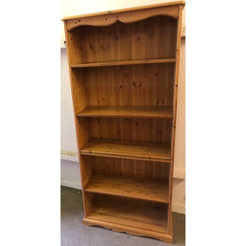 54 - Solid Pine Bookcase 182 x 80 x 33 cms...