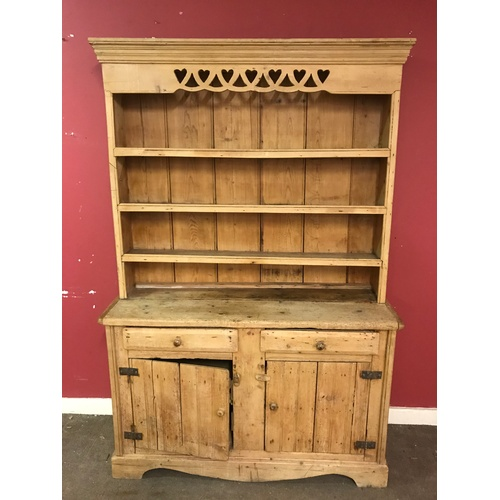 1 - Antique Pine Dresser 188 x 133 x 44 cms...