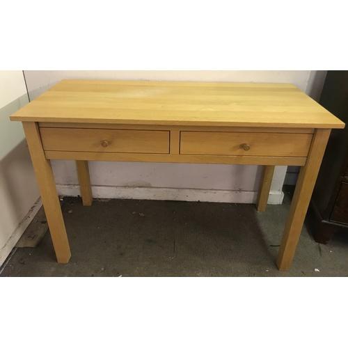 2 - Oak 2 Drawer Table 120 x 53 x 79 cms...