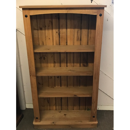 11 - Solid Pine Bookcase 150 x 83 x 29 cms large mex...