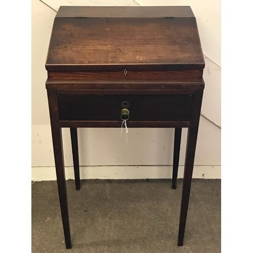 15 - Antique Slant Top Desk On Legs 92 x 52 x 42 cms...