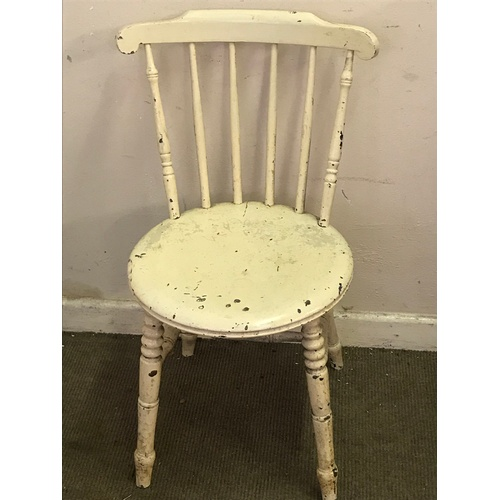 24 - Painted Stick Back Chair...