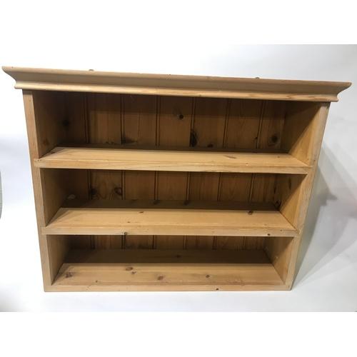 27 - Solid Pine Shelf Unit 64 x 49 x 20 cms...