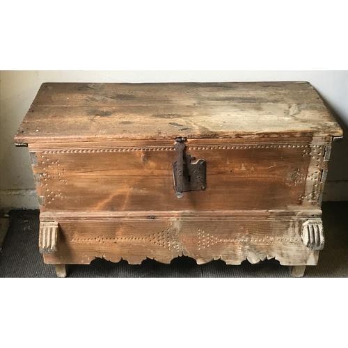 31 - Antique Pine Coffer 94 x 50 x 53 cms...