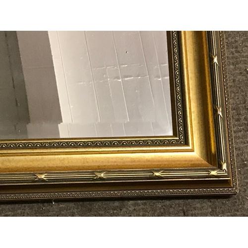 40 - Gilt Framed Bevelled Edge Mirror 103 x 73 cms...
