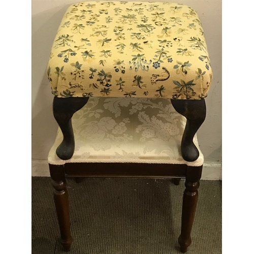 46 - Two Upholstered Stools...