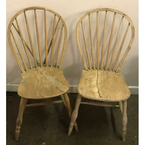 51 - Two Antique Stick Back Chairs...