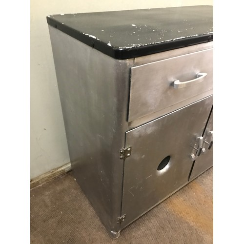 57 - Industrial Metal Cabinet. 90 x 44 x 80 cms...