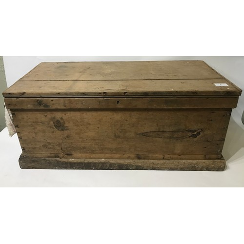 8 - Vintage Pine Blanket Box. 85 x 38 x 37 cms...