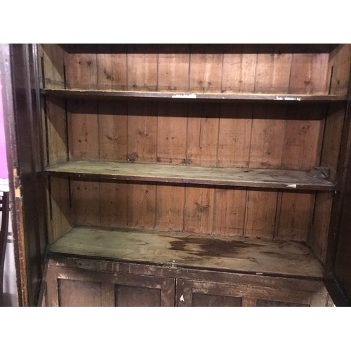 33 - Large Antique Pine Pantry Cupboard, 142 x 45 x 205 cms...