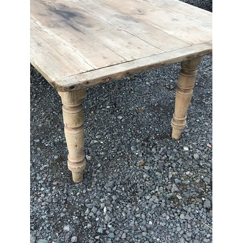 52 - Huge Antique Pine Farmhouse Table 315 x 107 x 78 cms...