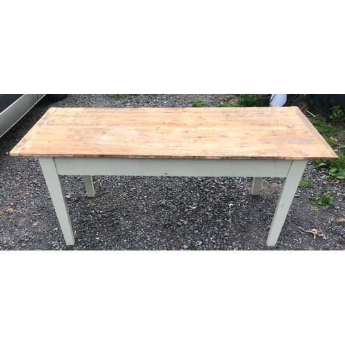 35 - Pine Plank Top Table...