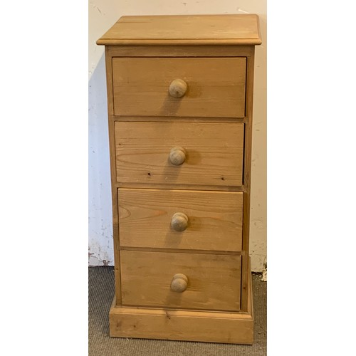 9 - Solid Pine Chest Of Four Drawers. 46 x 43 x 99 cms