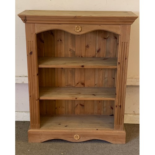 10 - Solid Pine Bookcase. 87 x 30 x 108 cms